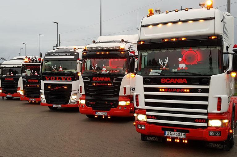 Flota ciężarówek Scania
